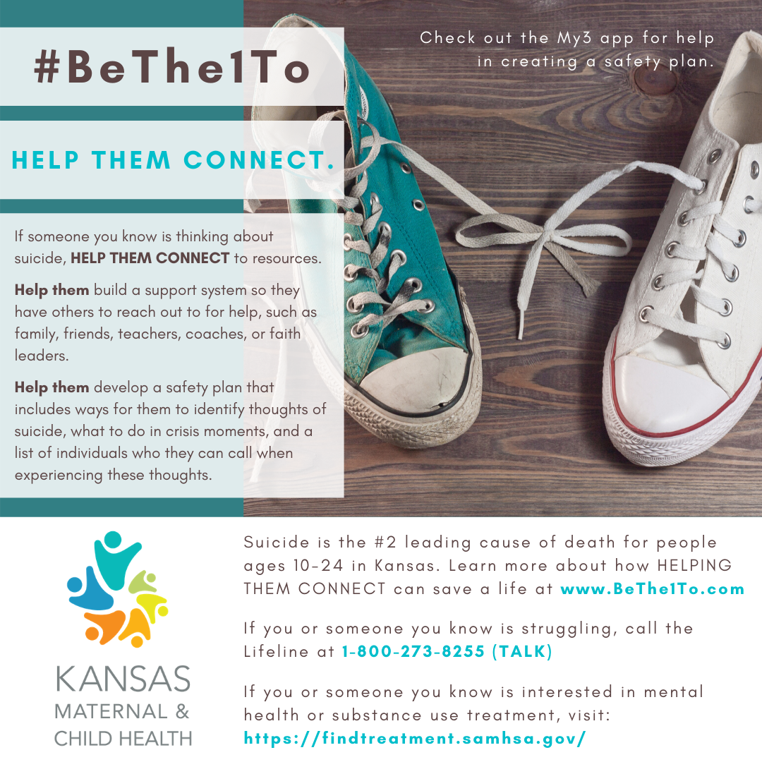 Help them connect graphic - teal and white